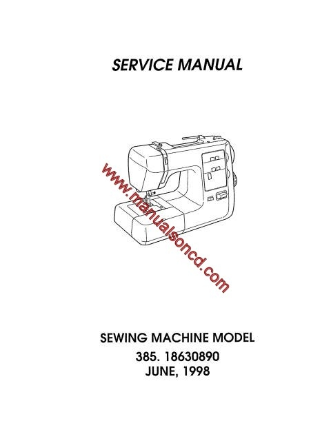 free pdf kenmore model 158.12313 sewing machine manual