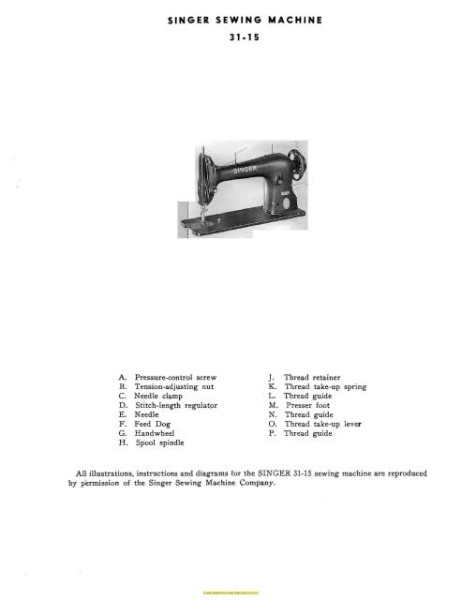 Singer 31-15 Industrial Sewing Machine Manual