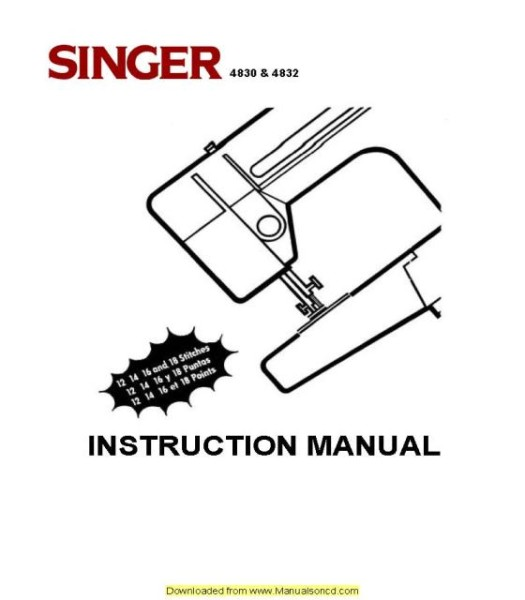 singer 4830 sewing machine