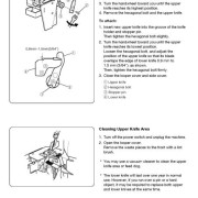 Janome 213D Sewing Machine Instruction Manual