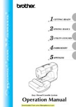 Brother SE-270D Sewing Machine Owners Manual