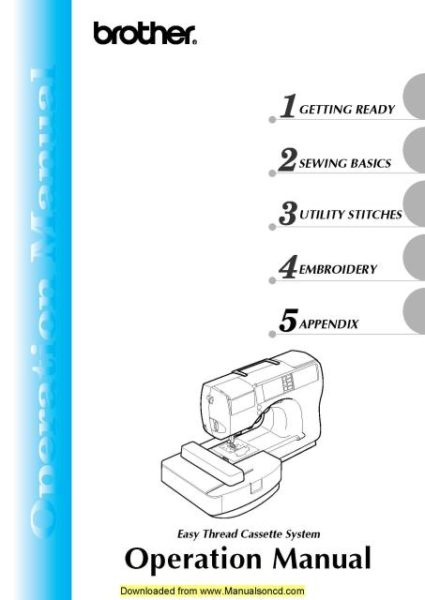 Brother se d sewing machine owners manual