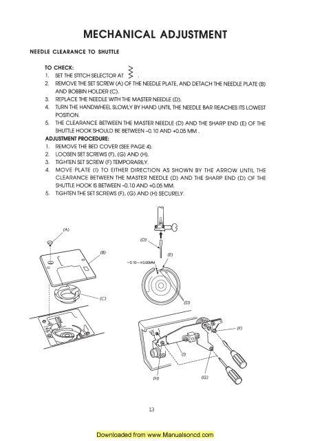 janome sewing machine service