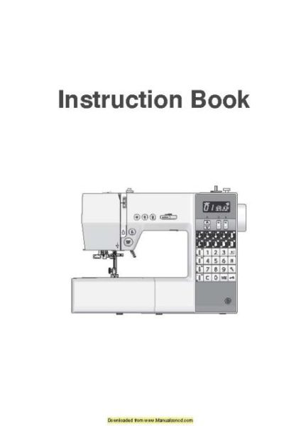 Necchi EX60 Sewing Machine Instruction Manual