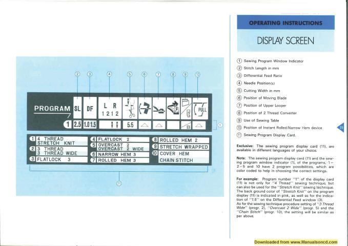 Elna 704 DEX Sewing Machine Instruction Manual