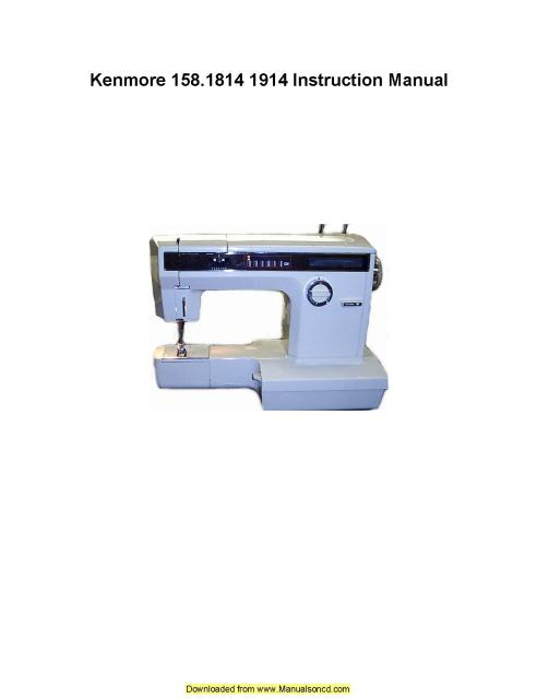 kenmore sewing machine manual free