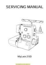 Janome 213d Sewing Machine Service Manual