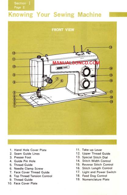 kenmore sewing machine manuel