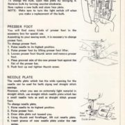 Brother XL731 Sewing Machine Instruction Manual