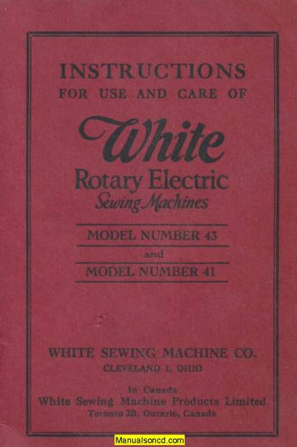 white rotary electric sewing machine