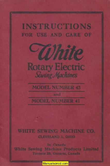 white sewing machine troubleshooting