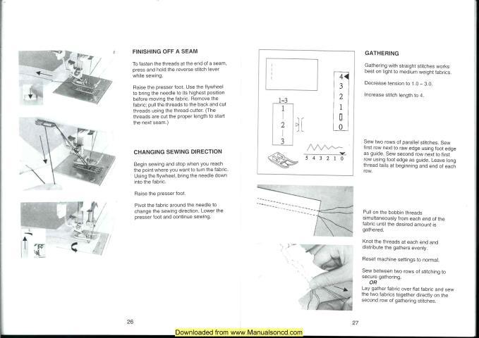elna 2003 sewing machine instruction manual