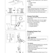 Janome 15822 Sewing Machine Instruction Manual