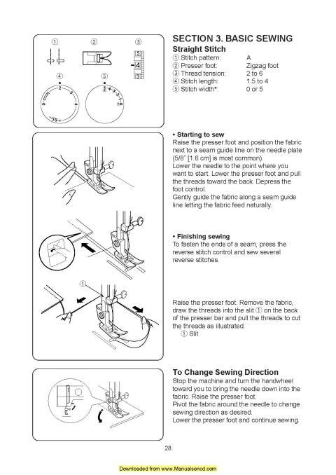 janome hello sewing machine manual