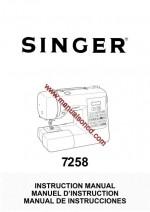 Singer Model 7258 Sewing Machine Instruction Manual
