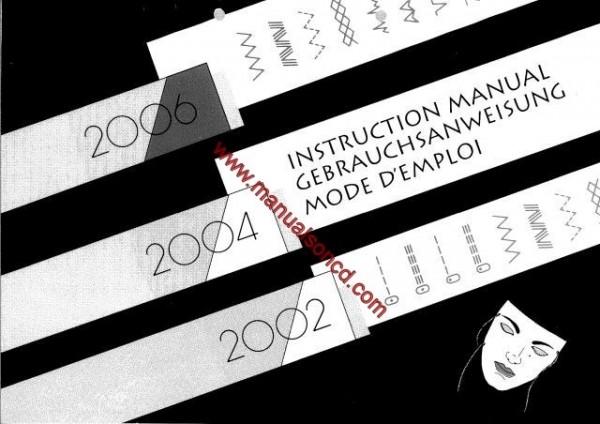 Elna Sewing Machine Manual 2002 - 2004 - 2006