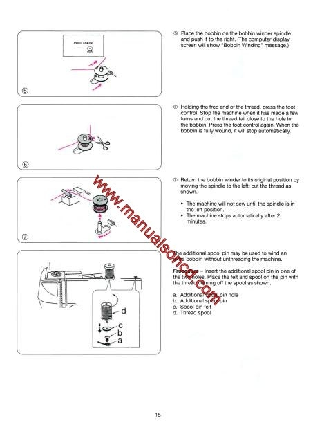 elna 2005 sewing machine instruction manual