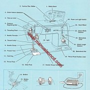Singer 645 Sewing Machine Instruction Manual Touch & Sew Deluxe