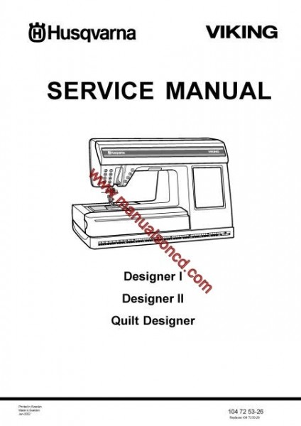 husqvarna viking service manual designer i  u2013 ii and quilt