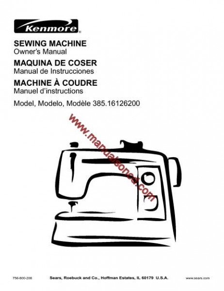 kenmore sewing machine model 385 bobbin