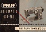 Pfaff 230_260 Sewing Machine Instruction Manual