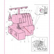 Brother 925D Overlock Sewing Machine Instruction Manual