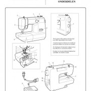 Brother VX 1400 Sewing Machine Instruction Manual VX1400