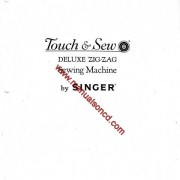 Singer 600 Deluxe Zig-Zag Sewing Machine Manual Touch And Sew