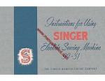Singer Model 99-31 Electric Sewing Machine Manual 99.31