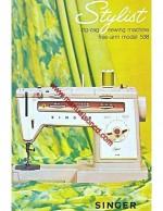 Singer 538 Stylist Sewing Machine Instruction Manual