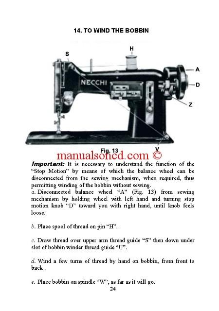 elna zig zag sewing machine manual