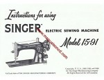 Singer 15-91 Sewing Machine Instruction/Owners Manual
