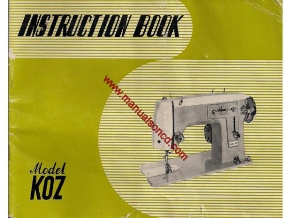 Koz Sewing Machine Instruction Manual