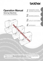 Brother SC9500 Sewing Machine Instruction Manual
