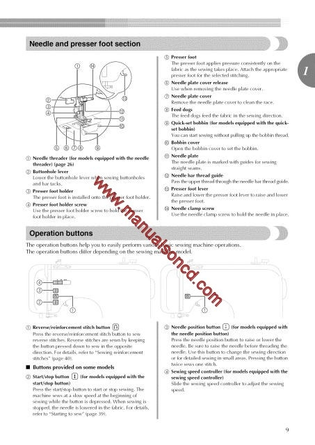 brother sewing machine instruction manual download