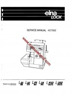 Elna Lock Serger Service Manual L1, L2, L4, L5, L4D, L5D