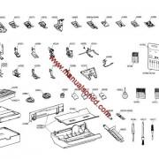 Elna Carina Electronic And Elna 500 Electronic Parts Manual