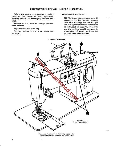 singer 338 sewing machine service manual