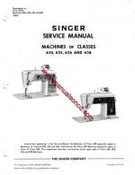 Singer 620 Sewing Machine Service Manual
