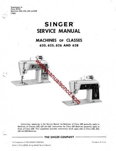 Singer 625 Sewing Machine Service Manual