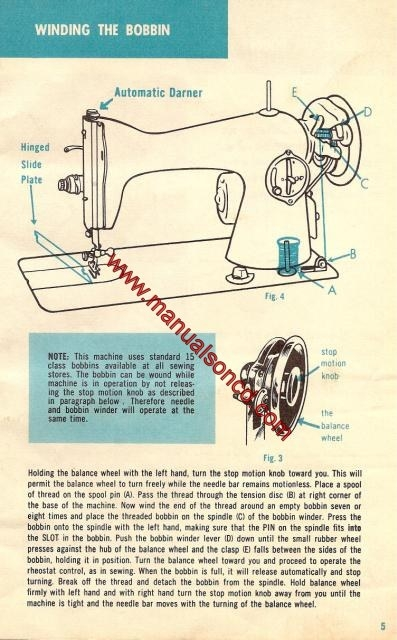 Morse 200 Sewing Machine Instruction Manual
