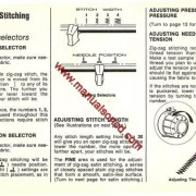 Singer 257 Fashion Mate Sewing Machine Instruction Manual