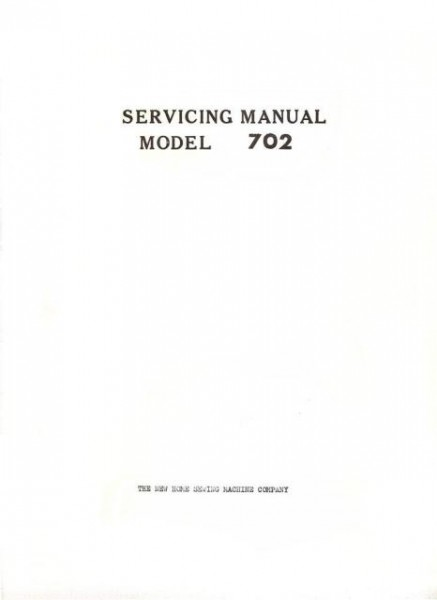 Janome 702 Sewing Machine Service Manual