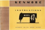 Kenmore 158.470 Sewing Machine Instruction Manual
