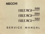 Necchi Silvia 582 - 584 - 586 Sewing Machine Service Manual