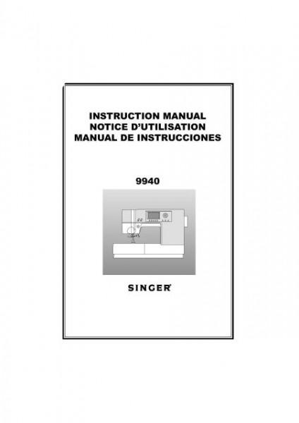 Singer 9940 Quantum Sewing Machine Manual