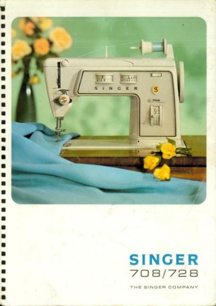 Singer 728 Sewing Machine Instruction Manual