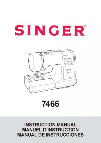 Singer 7466 Sewing Machine Instruction Manual