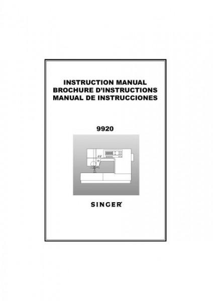 singer sewing machine manual