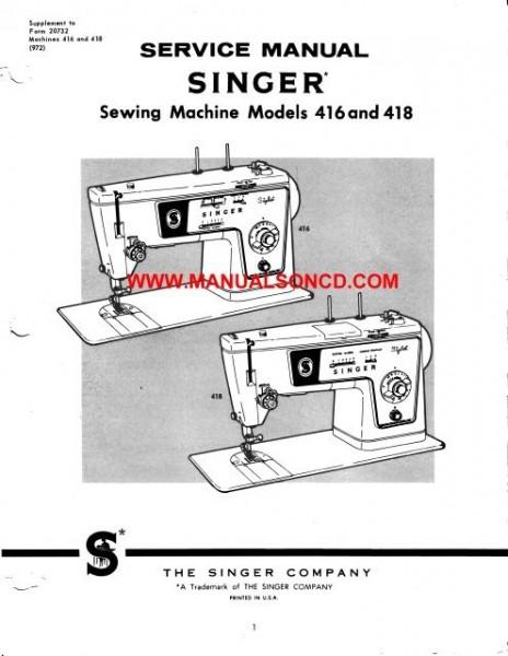 sewing machine service manual